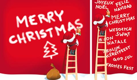Weihnachtsmann E-Card versenden